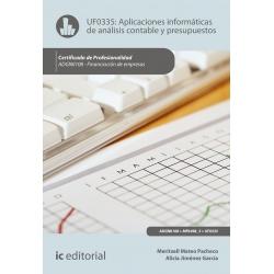 Aplicaciones informáticas de análisis contable y contabilidad presupuestaria UF0335