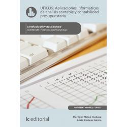 Aplicaciones informáticas de análisis contable y contabilidad presupuestaria. ADGN0108
