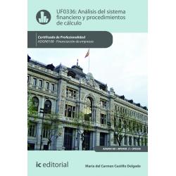 Análisis del sistema financiero y procedimiento de cálculo. ADGN0108