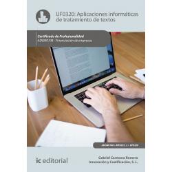Aplicaciones informáticas de tratamiento de textos UF0320