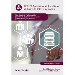 Aplicaciones informáticas de bases de datos relacionales UF0322