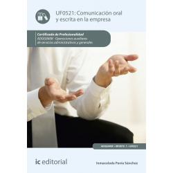 Comunicación oral y escrita en la empresa UF0521 (2ª Ed.)