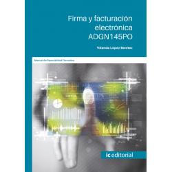 Firma y facturación electrónica. ADGN145PO