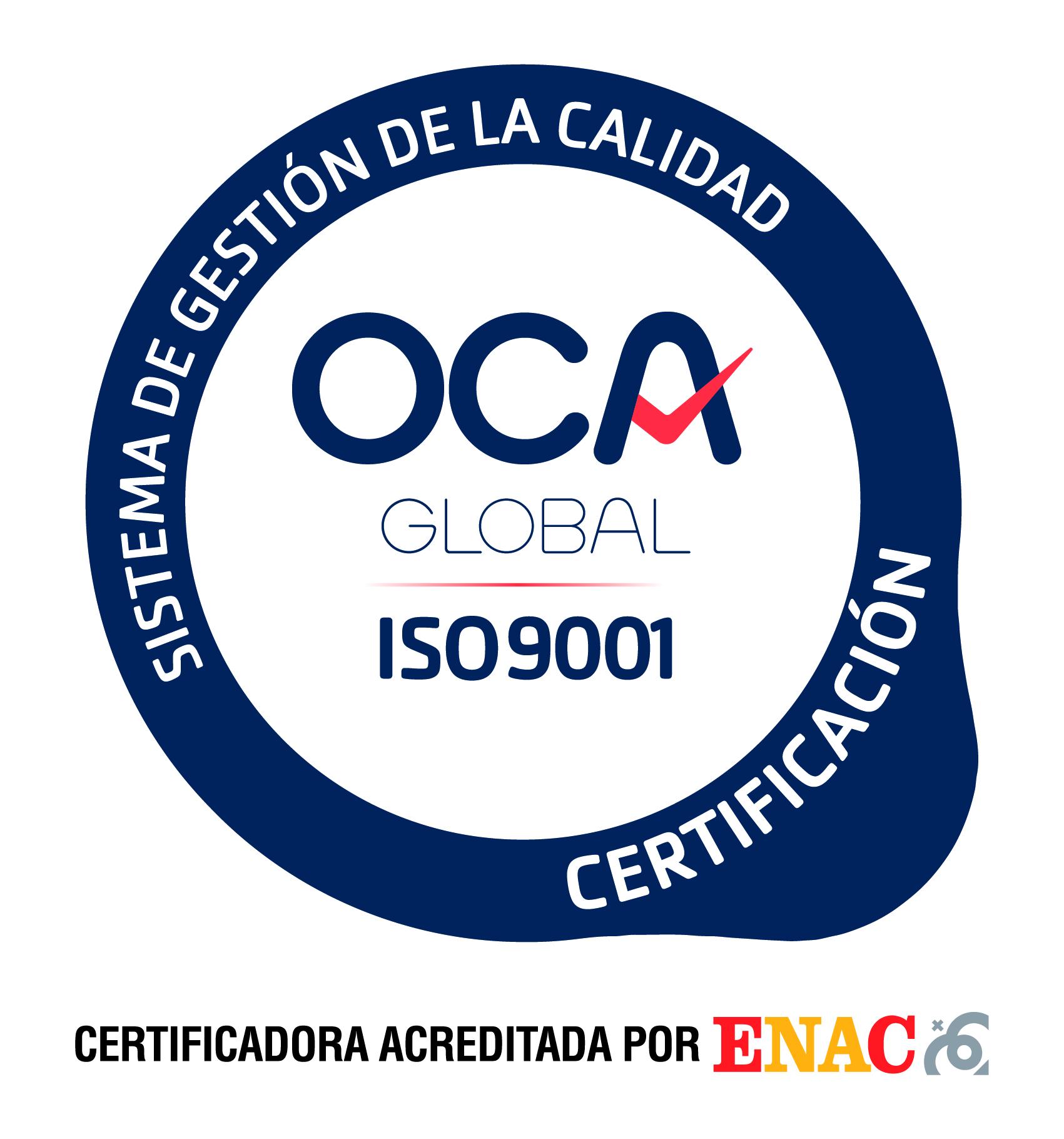 sello certificación ISO9001